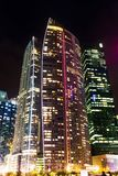 Office tower at night royalty free stock image