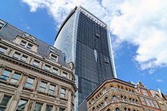 Office tower under construction at 20 Fenchurch Street Royalty Free Stock Photos