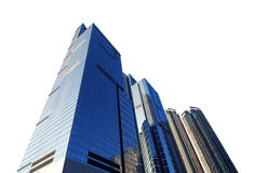 Office Towers. Commercial Office Towers isolated on White Royalty Free Stock Photos