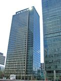 Office Towers. Office building at Canary Wharf, London stock photo