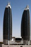 Office towers in Dubai. Modern tall buildings in Dubai Stock Photography
