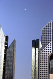 Office towers in dubai. Towers in dubai with sunlight reflection and clear blue sky Royalty Free Stock Image