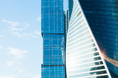 Office towers from glass and meta Royalty Free Stock Image