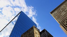 Office Towers With Moving Sky stock footage