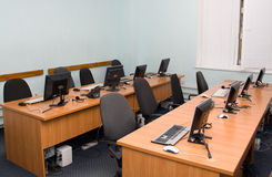 Office or training centre interior Stock Photos