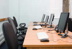 Office or training centre interior Royalty Free Stock Image