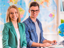 Office Travel Agency Royalty Free Stock Photos