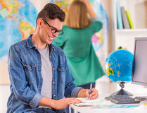 Office Travel Agency Stock Image