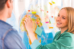 Office Travel Agency Stock Photo