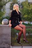Office urban girl outdoor portrait Stock Images