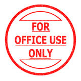 FOR OFFICE USE ONLY Royalty Free Stock Images