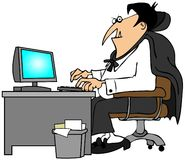 Office vampire Stock Image