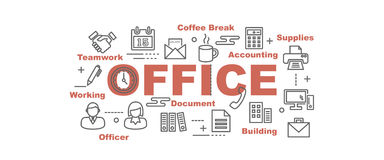 Office vector banner Stock Image