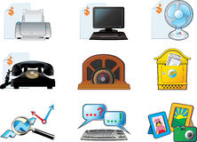 Office vector icon set. Office  icon set for price list and site Stock Photos