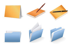 Office vector icon set Stock Photos