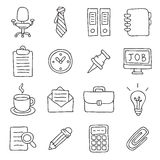 Office. Vector icons Stock Photo