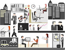 Office - vector illustration Royalty Free Stock Image