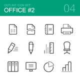 Office vector outline icon set 2 Stock Photo