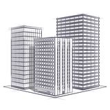 Office. Vector office sketch on white Royalty Free Stock Photography