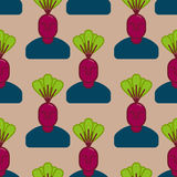 Office vegetables garden. Manager beet . Vegetable Department at Stock Photography