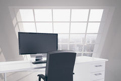 Office with view of city Stock Photo