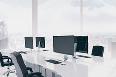 Office with view of city Royalty Free Stock Photography