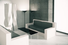 Office waiting area with sofas Stock Images