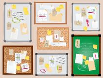 Free Office Wall Board Pined Stickers Vector To-do Planner Pined On Board Illustration Isolated Officeplace Stikers With Royalty Free Stock Photos - 111025208