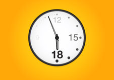 Office wall clock. Facetious office wall clock. High-detailed vector artwork Royalty Free Stock Photos