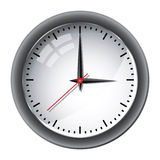 Office wall clock illustration Stock Images