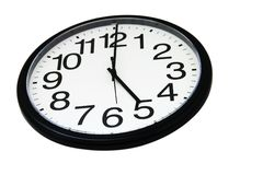 Office wall clock, isolated Stock Images