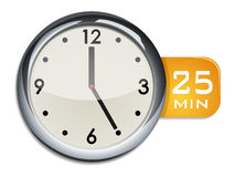 Office wall clock timer 25 minutes Stock Photography