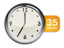 Office wall clock timer 35 minutes Royalty Free Stock Photography