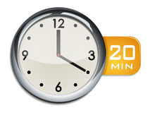 Office wall clock timer 20 minutes Stock Image