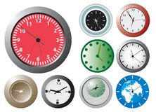 Office wallclocks. Vector illustration for you design Royalty Free Stock Photo