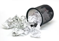 Office wastebasket 2 Stock Photos