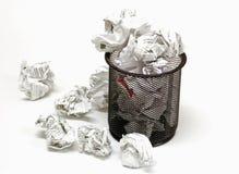 Office wastebasket Stock Images