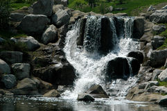 Office Waterfall. Waterfall in office park in Richfield Ohio, shot horizontally Stock Photos