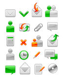 Office web icons Stock Photography