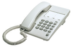 Office white phone Stock Photography