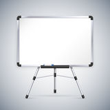 Office Whiteboard on Tripod. Clipping paths included in JPG file Stock Photos