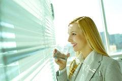 Through office window Royalty Free Stock Photography