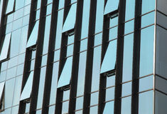 Office windows. Are opened in the modern building Royalty Free Stock Photography