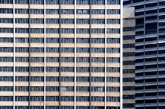 Office Windows. Repetitive office block windows in the city Stock Photo