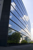 Office Windows 3. A graphic perspective of office windows with clouds reflected Stock Photos