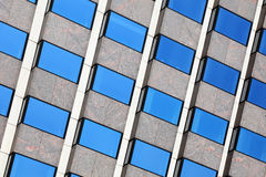 Office Windows. Background of double glazed glass windows in an office block Stock Images
