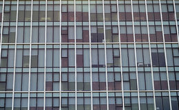 Office windows. Office building with windows view, lot of windows Royalty Free Stock Images
