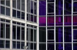 Office windows Manchester. Office block windows in Manchester Royalty Free Stock Image