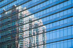 Office windows reflections Stock Photo