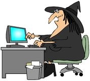 Office witch Stock Images